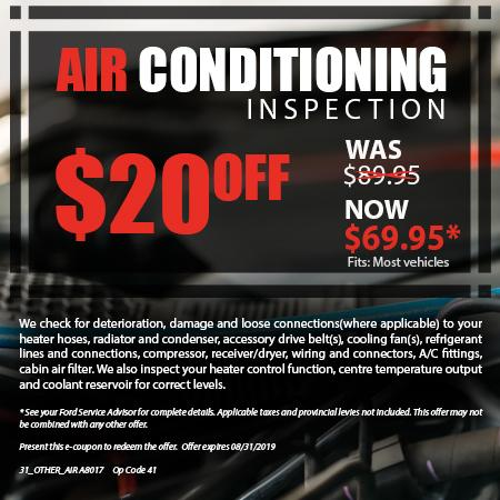 Air Conditioning Inspection $20